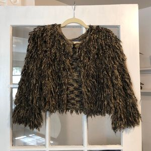 Vivienne Tam: Chic yarn cardigan jacket